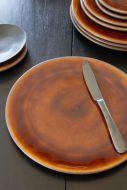 Image of the Roda Mustard Stoneware Large Dinner Plate