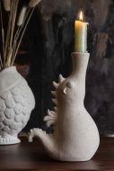Lifestyle image of the Faux Seahorse Candle Holder