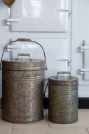 Image of the Set Of 2 'Poubelles' Trash Cans