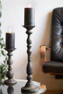 Tall Black Candlestick Holder