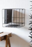 Wirework File Storage Wall Shelf Unit