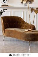 Lifestyle image of the Easy Elegance Leopard Print Velvet Chaise Lounge