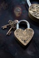 Image of the Little Lovers Decorative Padlock