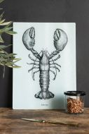 Lifestyle image of the Lobster Glass Chopping Board