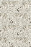 cutout image of Cole & Son - The Ardmore Collection - Leopard Walk - 190/2011 grey leopards repeated pattern on pale spotted background
