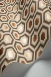 landscape detail image of roll of Cole & Son Contemporary Restyled - Hicks' Hexagon Wallpaper - Gold 95/3017 - SAMPLE