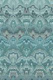 Engblad & Co Lounge Luxe Collection - Shangri-La Wallpaper - Aqua Blue 6388 - ROLL