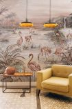 Flamingo Chinoiserie Wallpaper Mural - Rose Pink 7900132 - MURAL