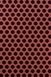 detail image of Nina Campbell Gioconda Flock Wallpaper - Red/Brown NCW4273-02 - ROLL red small circles on brown background repeated pattern