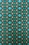 detail image of Matthew Williamson Mustique Wallpaper - Green W6657-02 - ROLL art deco style repeated pattern