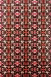 detail image of Matthew Williamson Mustique Wallpaper - Red W6657-04 - ROLL art deco style repeated pattern