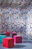 Osborne & Little Butterfly Garden Silver Foil Wallpaper - W6592-02 - ROLL