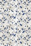 cutout image of 17 Patterns Flamingo Wallpaper - Navy Blue - ROLL crowded blue and white flamingos repeated pattern