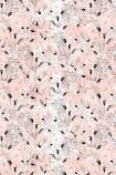 cutout image of 17 Patterns Flamingo Wallpaper - Peach - SAMPLE crowded peach, pink and white flamingos repeated pattern