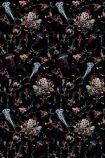 detail image of 17 Patterns Jellyfish Wallpaper - Black - SAMPLE