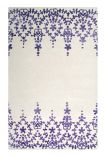 Image of the Floral Lace Plum Purple Rug on a white background