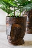 Image of the Small Giant Clay Face Flower Pot
