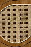 NLXL VOS-09 Vintage Drops Webbing Wallpaper by Studio Roderick Vos - Oak - SAMPLE