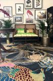 Lifestyle image of the Wendy Morrison Phoenix Hand Knotted Wool & Silk Rug - 305cm x 427cm