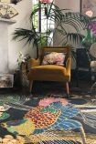 Lifestyle image of the Wendy Morrison Phoenix Hand Knotted Wool & Silk Rug - 224cm x 335cm