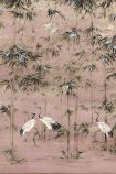 Chinoiserie Wallpaper Mural - Garzas Rose Pink 7900002 - MURAL