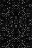 detail image of Christian Lacroix Air de Paris Collection - Paseo Wallpaper - Jais PCL007/05 - ROLL black and grey kaleidoscope effect repeated pattern
