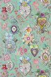 Christian Lacroix Incroyables et Merveilleuses Collection - Cocarde Wallpaper - Glauque PCL694/02 - ROLL