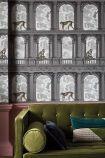 Close-up lifestyle image of the Procuratie con vista Wallpaper by Cole & Son