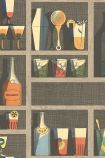 Close-up sample image of the Cocktails Wallpaper by Cole & Son