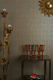 lifestyle image of cole & son geometric II - mosaic wallpaper - 4 colours available