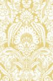detail image of Cole & Son The Albemarle Collection - Chatterton Wallpaper - Yellow 94/2013 - ROLL yellow and white renaissance style repeated pattern