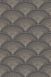 Cole & Son Icons Collection - Feather Fan Wallpaper - Charcoal & Bronze 112/10033 - ROLL