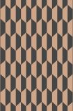 detail image of Cole & Son Icons Collection - Petite Tile Wallpaper - Charcoal & Bronze 112/5022 - ROLL grey and bronze honeycomb geometric repeated pattern
