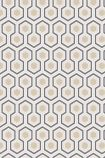 detail image of Cole & Son Contemporary Restyled - Hicks' Hexagon Wallpaper - Ivory 95/3016 - ROLL honeycomb hexagon geometric repeated pattern