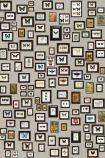 detail image of Matthew Williamson Narissa Butterfly Wallpaper - W6953-01 - ROLL butterflies in frames on grey background repeated pattern