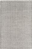 cutout image of Ives Cotton And Jute Rug - Black & White - 160cm x 230cm on white background