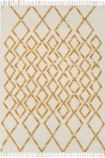 cutout image of Hackney Diamond Kelim Rug - Yellow - 120cm x 170cm on white background