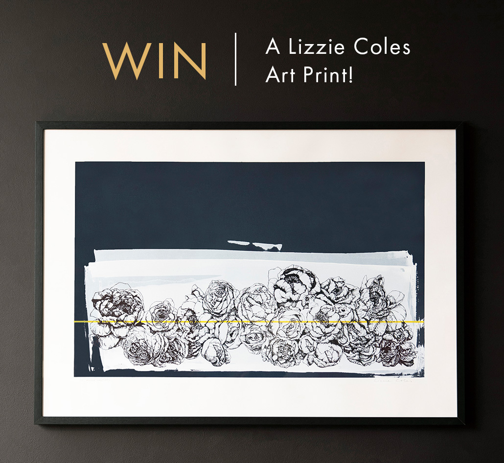 WIN: An Unframed Hand Screen Printed Floral Portobello Landscape Artwork By Lizzie Coles