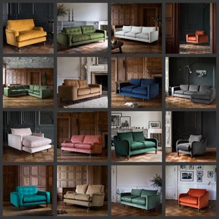 Image illustrating a selection of Rockett St George sofas