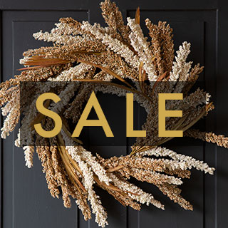 Sale image with wreath